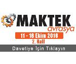 Maktek Avrasya 2016 Davetiye
