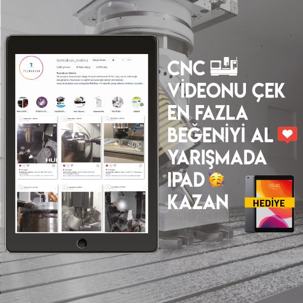 CNC VİDEONU ÇEK EN FAZLA BEĞENİYİ AL IPAD KAZAN