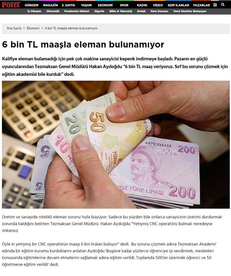 6 bin TL maaşla eleman bulunamıyor