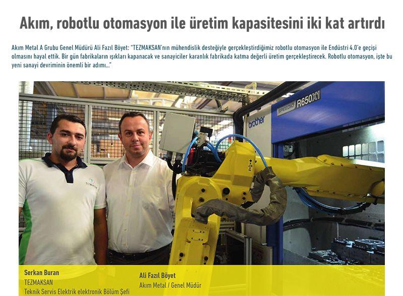 Akım, robotlu otomasyon ile üretim kapasitesini iki kat artırdı