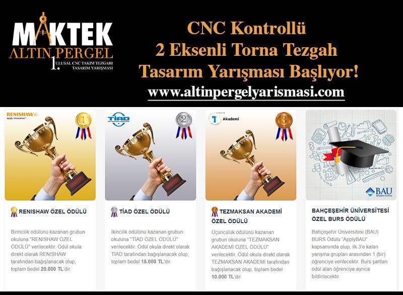 CNC Kontrollü 2 Eksenli Torna Tezgah Tasarım Yarışması Başlıyor!