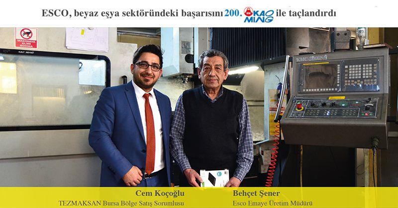 ESCO , beyaz eşya sektöründei başarısını 200. Kaoming ile taçlandırdı