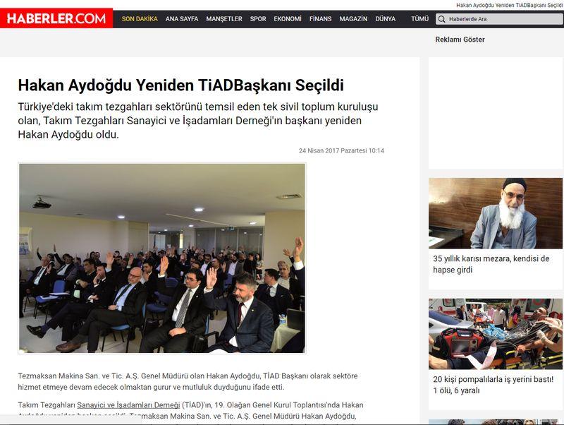 Haberler.com - Hakan Aydoğdu Yeniden TiAD Başkanı Seçildi