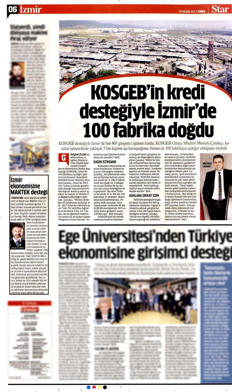 İzmir Ekonomisine MAKTEK Desteği