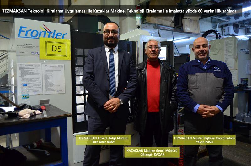 Kazaklar Makine, Teknoloji Kiralama ile imalatta yüzde 60 verimlilik sağladı