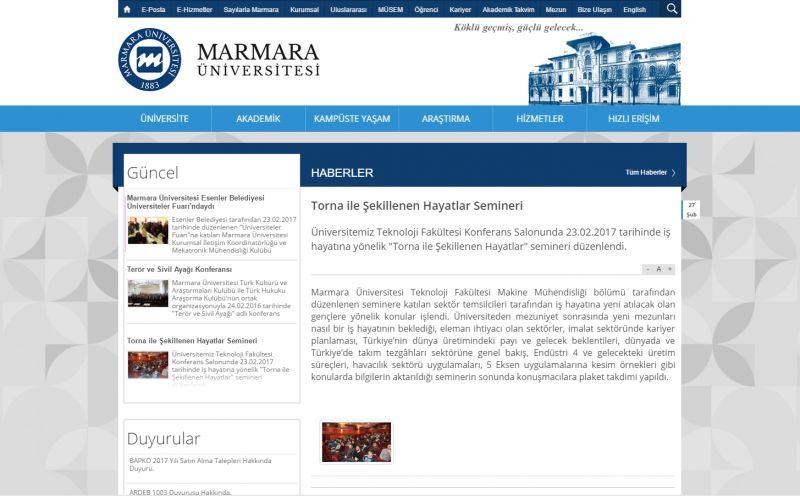 Marmara Üniversitesi - Torna ile Şekillenen Hayatlar Semineri