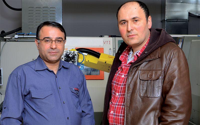 Tezmaksan Teknik Servis Müdürü Tayfun Ayduran <br> Sülkar Metal Firma Ortağı Recep Süleymanoğlu