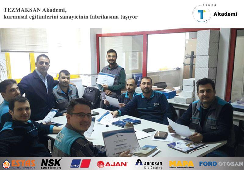 TEZMAKSAN Akademi , kurumsal eğitimlerini sanayicinin fabrikasına taşıyor
