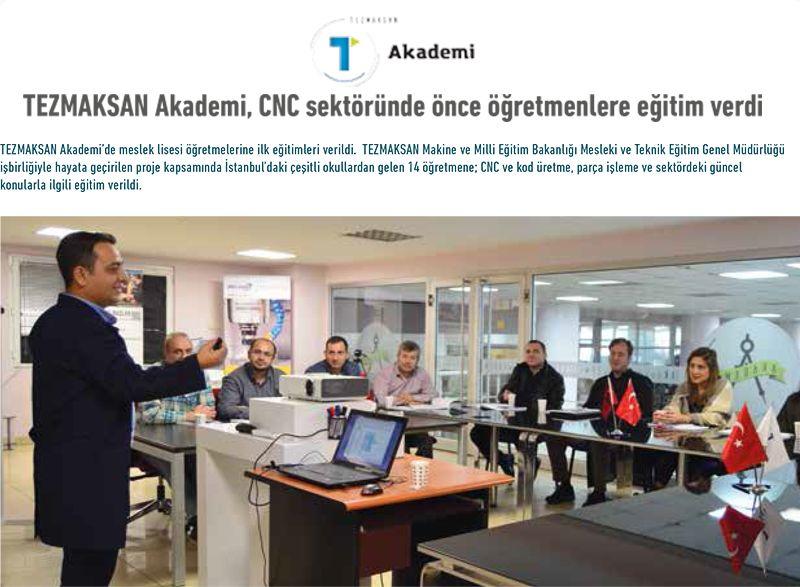 TEZMAKSAN Akademi, CNC sektöründe önce öğretmenlere eğitim verdi