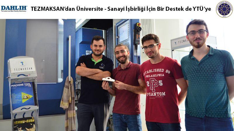 TEZMAKSAN'dan üniversite-sanayi işbirliği için bir destek de YTÜ'ye