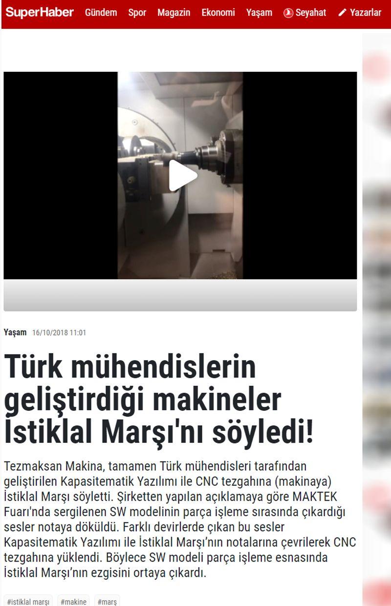 Türk mühendislerin geliştirdiği makineler İstiklal Marşını söyledi